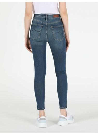 Colin's 760 Dıana Yüksek Bel Dar Paça Super Slim Fit Jean Kadın Jean Pantolon İndigo